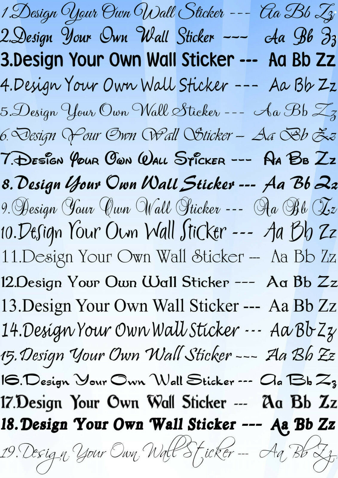 Design Your Own Wall art Quote text name sticker words eBay