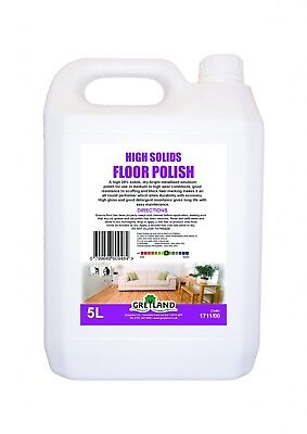 High Solid Floor Polish 5L - Floor Care - Greyland (pack 2 or pack 4)