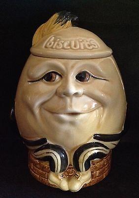 Vintage Price Kensington Humpty Dumpty Biscuit Jar - Nice!!!