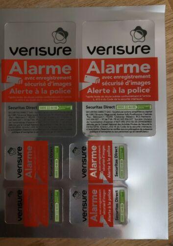 Lot de 6 Autocollants dissuasif alarme Verisure Securitas Direct Neuf a prix reduit