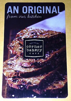 "CORNER BAKERY CAFE ""YUMMY BREAD"" GIFT CARD NO VALUE COLLECTIBLE NEW"
