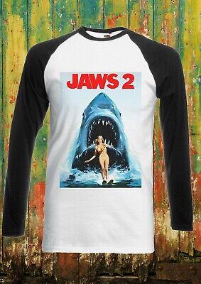 Jaws 2 Steven Spielberg Shark Men Women Long Short Sleeve Baseball T Shirt 2113
