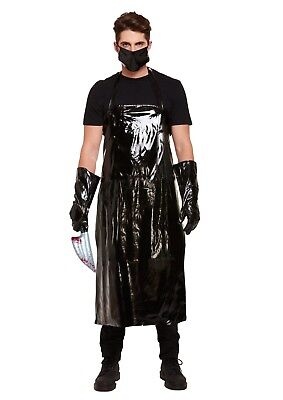Dexter Halloween Outfits (Mens Scary Butcher Fancy Dress Halloween Horror Costume Adult Sinister)
