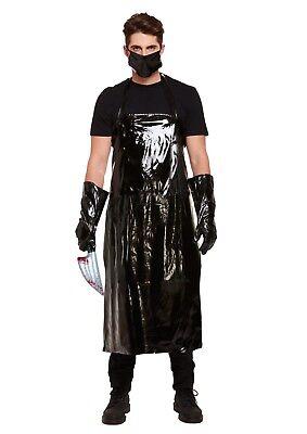 Metzger Halloween-kostüm (Herren Unheimliche Metzger Kostüm Halloween Horror Kostüm Sinister Outfit)