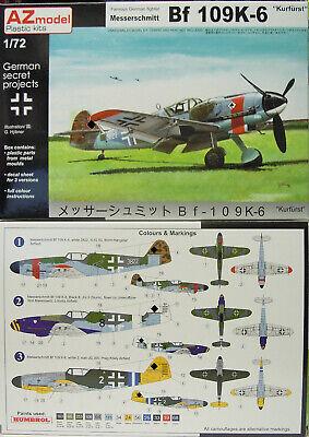 """Bf 109 K-6 """"Kurfürst"""" , AZ Model, 1:72, Plastikmodellbausatz, Neuheit"""