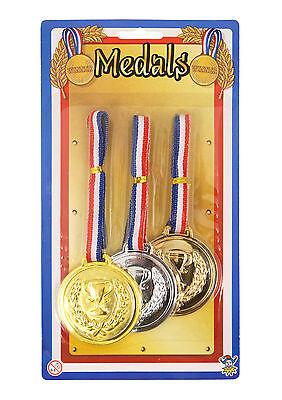 Schule Preis sport-tag Olympische Spiele Gold Silber Bronze Plastik Medaille (
