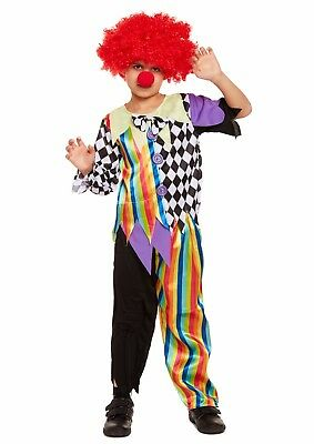zy Clown Halloween Party Fancy Dress Costume Ages 4-12 (Crazy Kid Halloween-kostüme)