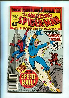 AMAZING SPIDER-MAN ANNUAL 22 (9.4) NEWSSTAND 1ST SPEED BALL MARVEL (B035)