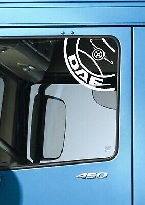 DAF TRUCKS CIRCLE WINDOW LOGO DECAL STICKER DAF XF CF  LF HAULAGE TRUCK DRIVER for sale  Manchester