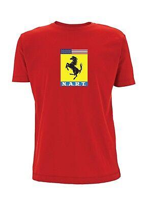 Nart Ferrari Inspired T Shirt North American Racing Team N.A.R.T 275 Spider GTB