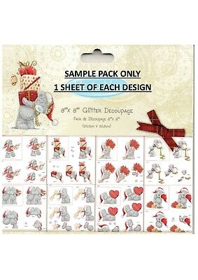ME TO YOU DECOUPAGE CHRISTMAS DIE CUT PAD *SAMPLE PACK* 8 SHEETS