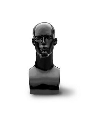 Male Mannequin Head Bust Wig Hat Jewelry Display -black -17 14 Height-pdha-mg1