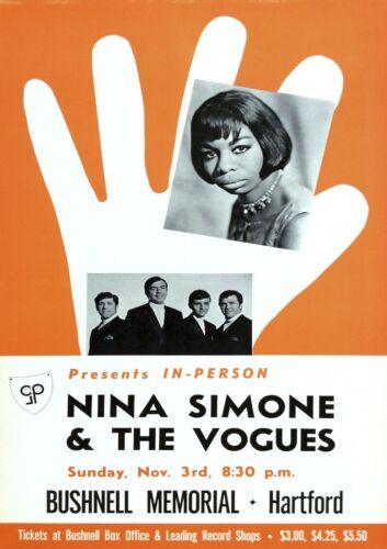 "Reproduction ""Nina Simone & The Vogues Poster, Jazz, Wall Art, Vintage Print"