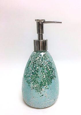 Nuovo Verde Foglia di Tè Mosaico in Vetro a Forma di Pera Bagno Sapone + Lozione