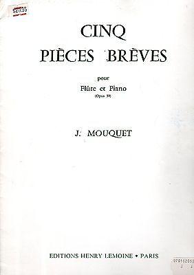 CINQ PIECES BREVE for FLUTE & PIANO Op 39 5 shorrt pc EC SINGLE Sheet Music Book