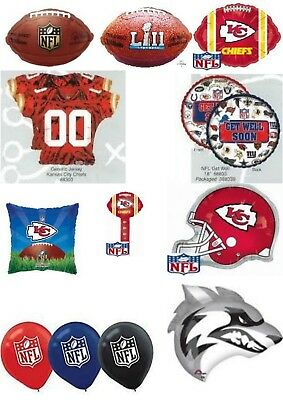 Kansas City Chiefs NFL Helium Balloons Party Ware Decoration Novelty Gift
