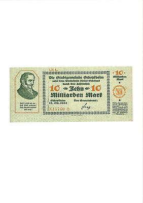 Rupertus 284.29   Notgeldschein Stadt Schopfheim 10 Mrd Mk 22.10.1923