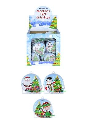 3 - 36 Xmas Christmas Pinballs Retro stocking party bag filler santa snowman