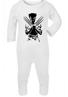 Marvel Baby Shower (WOLVERINE MARVEL ,BABYGROW,ROMPER OUTFIT GIFT,BABY SHOWER,)