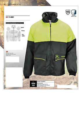 CHAINSAW JACKET PRIOR  CLASS 1 Francital Size SMALL BLACK AND YELLOW