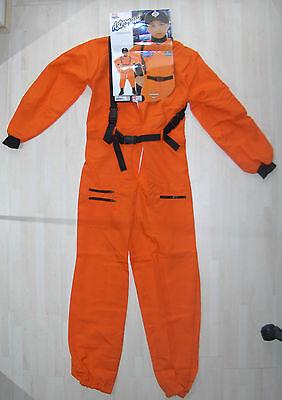 Kostüm ASTRONAUT Größe 158  rotorange ca. 132 cm Gesamtlänge NEU ()