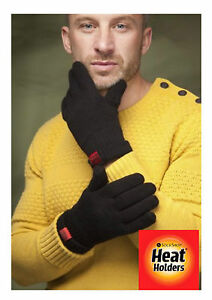 Heat-Holders-Mens-Thermal-Fleece-insulated-Black-Gloves