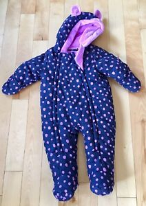 Snowsuit baby girl George size 6-12 months