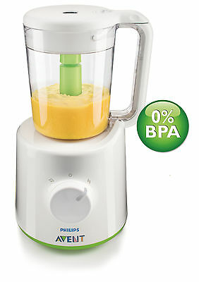 Philips AVENT Combined Baby Food Steamer and Blender Compact SCF870/21