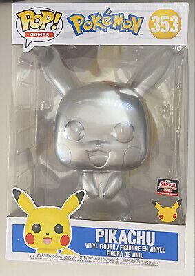 "Funko Pop! Games: Pokemon- Pikachu 10"" #353 Metallic Target Exclusive"