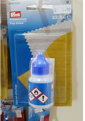 PRYM FRAY CHECK - WATER RESISTANT EDGING GLUE - SEWING,QUILTING,HAIR EXTENSIONS