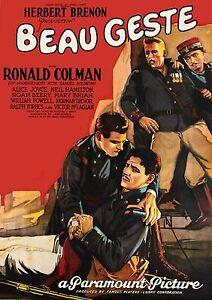 Beau Geste 1926 Ronald Colman Alice Joyce Noah Beery William ...