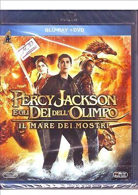 Dvd+Blu ray disc Percy Jackson e gli Dei dell'Olimpo Il mare dei mostri -Nuovo ! Dell Blu Ray Disc