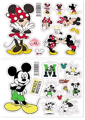 Disney Mickey & Minnie Mouse Laptop Sticker set, Mac, Wall Sticker, decal, skin usato  Spedire a Italy
