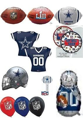 Dallas Cowboy Party Decorations (Dallas Cowboys NFL Helium Balloons Party Ware Decoration Novelty)