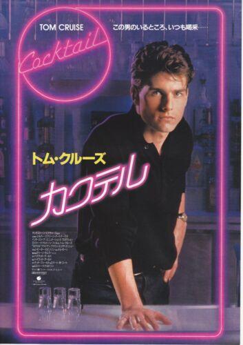 COCKTAIL:Tom Cruise - Original Japanese  Mini Poster Chirashi