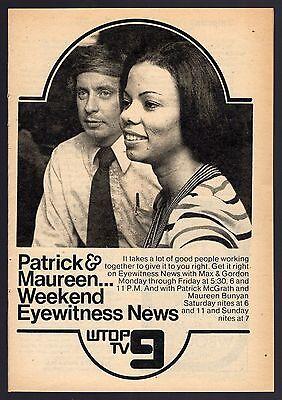 1974 Wtop Tv News Ad Partick Mcgrath   Maureen Bunyan Washington D C