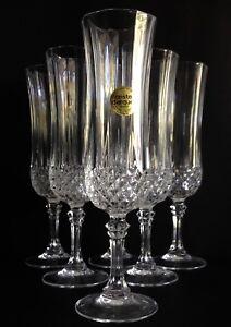 Cristal Darques France.6 Cristal D Arques France Longchamp Champagne Flutes