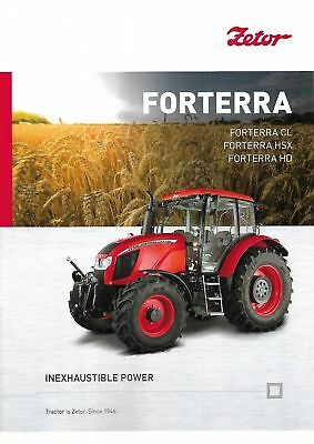 Zetor Forterra Series Tractor brochure 06/2018 June 2018, używany na sprzedaż  Wysyłka do Poland