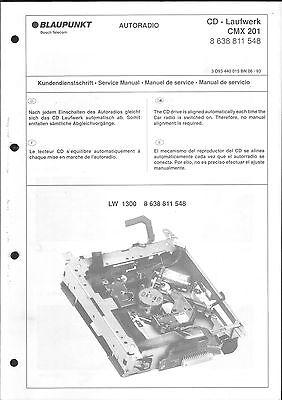 Blaupunkt Service Manual für CD-Laufwerk CMX 201 8 638 811 548   8638811548