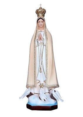 Madonna Statue Di Fatima Cm 100 Statues With Crown And Doves
