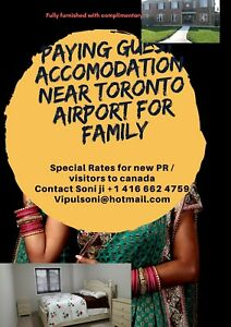 Toronto airport Fully furnished short term rental