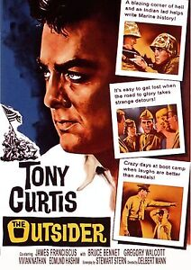 THE OUTSIDER - 1961 DVD - Tony Curtis - James Franciscus - Bruce Bennett