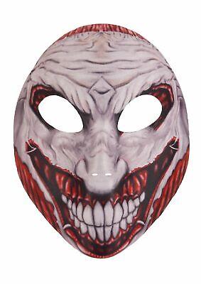 HALLOWEEN HORROR JOKER FACE MASK Men Evil  scary Clown  Costume Accessory NEW UK - Scary Clown Halloween Costumes Uk