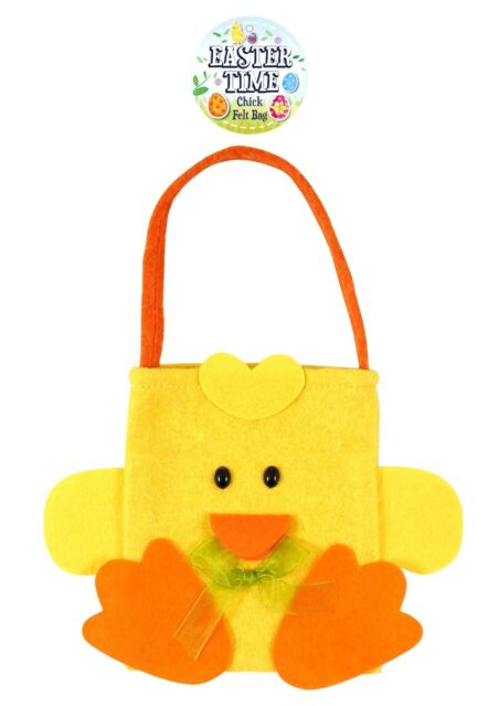 3xeaster chic felt egg hunt party gift bags ebay easter felt treat bags yellow chick egg hunt gift treat bag negle Gallery