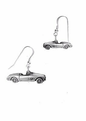Corvette Earring - Corvette 1957 on hook Earrings sterling silver 925 stamped Codec36