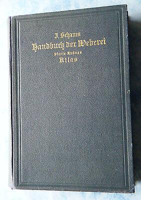 Schams Handbuch der Weberei Atlas Fabrikanten Weber 1909 Webmaschinen Stühle alt