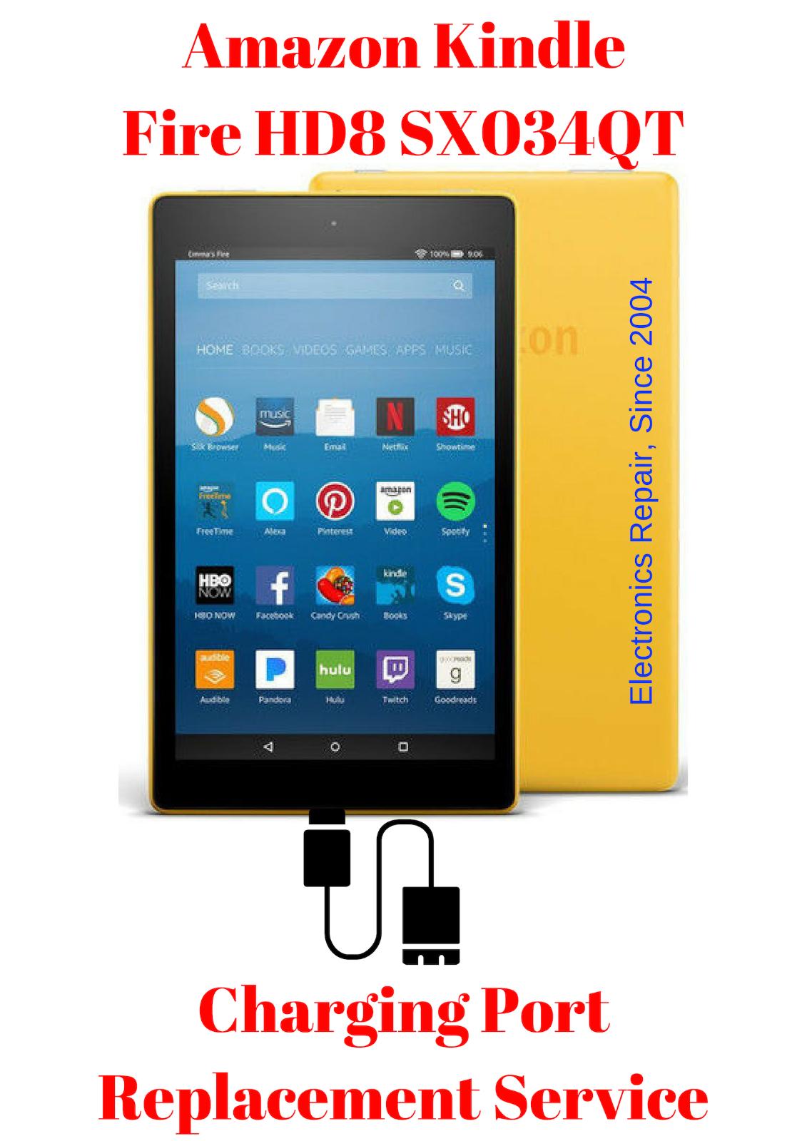 Details about Amazon Kindle Fire HD 8 SX034QT Tablet Charging Port Repair  Replacement Service