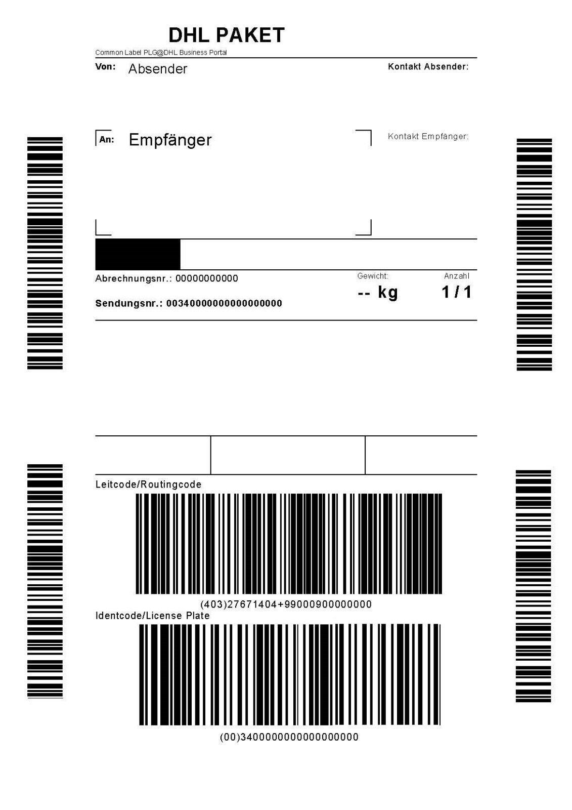 DHL Paketmarke für Deutschland bis 2 kg - inkl. Sendungsverfolgung!