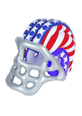 Inflatable Blow Up American Football Helmet 50 X 33cm USA Super-Bowl Prop - Blow Up Helmet