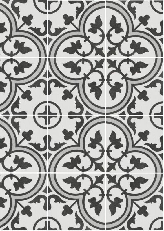 Encaustic Look Tiles Zamora 25 250x250mm Matt Glaze Floor Per M2